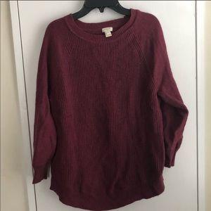 J.Crew Maroon Sweater